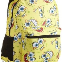 Nickelodeon Big Girls'  SpongeBob Allover Print Backpack, Yellow, One Size