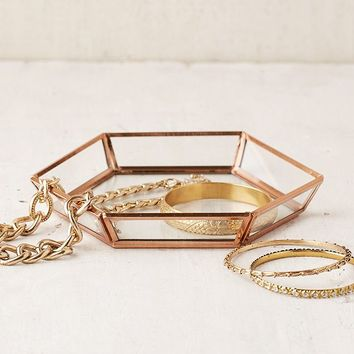 Hexagon Glass Catch-All Dish | Urban Outfitters