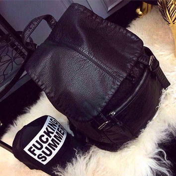 Hot Deal Comfort On Sale Back To School College Casual Leather Stylish One Shoulder Bags Backpack [6581911111]
