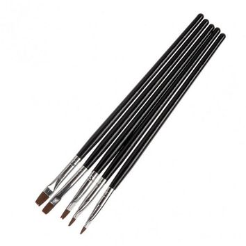 Fashion 5x Nail Art Painting Pattern Board Brush Dotting Detailing Pen Draw Tool Black