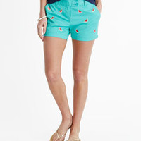 Watermelon Embroidered Dayboat Shorts