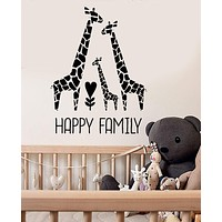Vinyl Wall Decal Giraffe Family Nursery Children's Room Decor Stickers Unique Gift (ig3532)