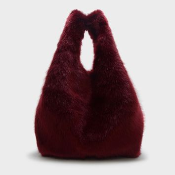 Red Furry Shoulder Bag|CHARLES & KEITH