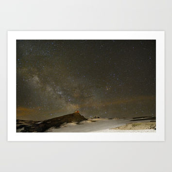 the Milky Way, Sagittarius and Antares on the Sierra Nevada National Park Art Print by Guido Montañés