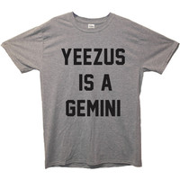 Yeezus Is A Gemini T-Shirt retro fashion teenage dope swag alternative tumblr tee top shirt front print T-Shirt