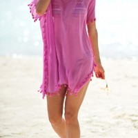 Seafolly Amnesia Kaftan Beach Cover-Up in Hibiscus, designer women's swimwear and beachwear for women at its best. Next Day Delivery & Free UK Returns/Exchanges