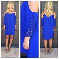 Royal Blue Off Shoulder Bonita Dress
