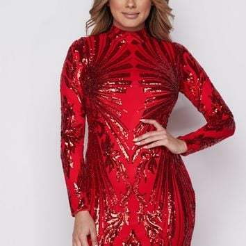 Hazel sequin festive dress