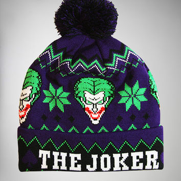 The Joker Cuff Pom Beanie