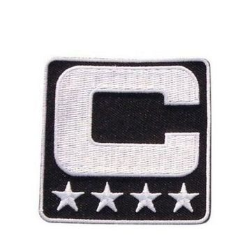 2017 Captain C Patch Iron or Sewing On for Jersey Football Baseball. Soccer Hockey Lac