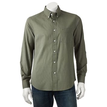 Dockers Checked Casual Button-Down Shirt - Big &
