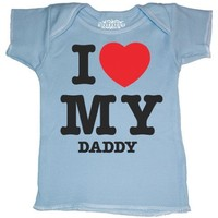 Riverstone Goods I Love (Heart) My Daddy Short Sleeve Lap T-Shirt (Newborn, 7-14 Pounds))