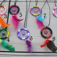 Dream catcher necklace.