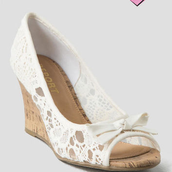 Report Shoes, Allice Crochet Wedge