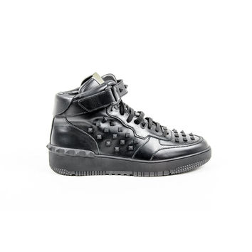 Black 41 EUR - 8 US Valentino Mens High Sneaker JY0S0876 VTB 0NO