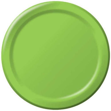Round Solid Color Paper Plates