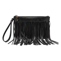 Banana Republic Willow Fringe Wristlet Size One Size - Black