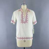 Vintage 1920s Peasant Blouse / Embroidered Cotton Gauze Bohemian Tunic – ThisBlueBird - Modern Vintage