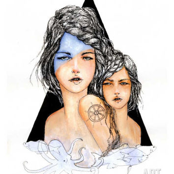 Aqua Giclee Print by Charmaine Olivia at eu.art.com