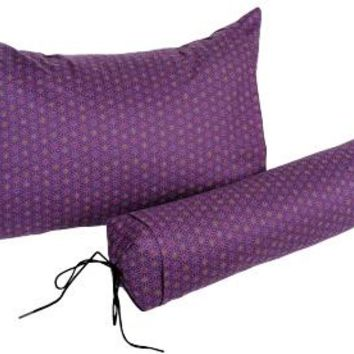 J-Life Asa No Ha Purple #3 Buckwheat Hull Pillow