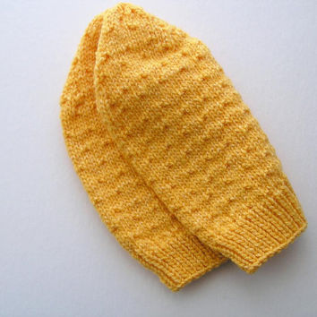 Yellow Cap Slouchy Hat Adult Size WinterAccessories Ready to Ship
