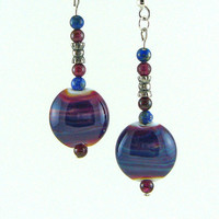 Pandora's Beads Lampworked Glass Bead Earrings by MercuryGlass