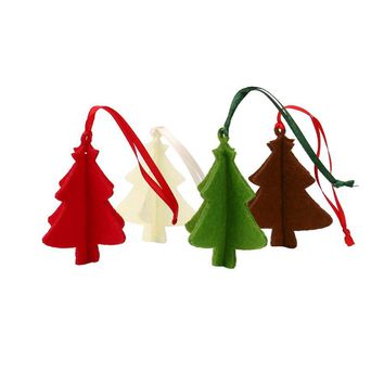 10PCS DIY Christmas Tree Felt Pendants Ornaments Christmas Party Decorations Xmas Tree Ornaments Kids Gifts