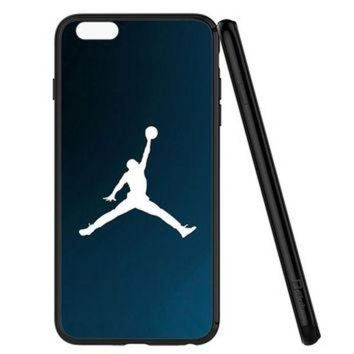 CREYUG7 Michael Jordan Basket Ball Dunk Blue iPhone 6 | 6S Case Planetscase.com