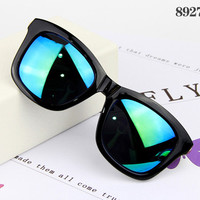 Retro Style Men Sunglasses #8927-C1 Green lenses