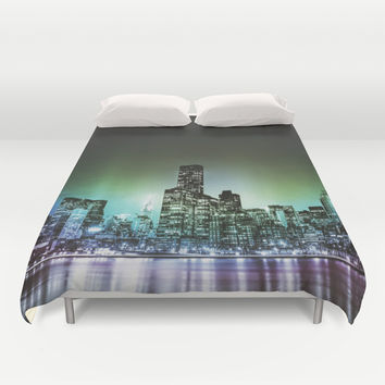 NYC Skyline Duvet Cover by Vivienne Gucwa