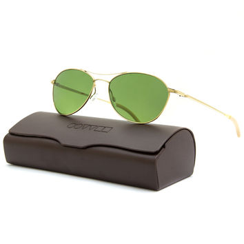 Oliver Peoples 1005S Aero Sunglasses 5035/P1 Gold / Jade VFX Polarized Lens 57mm