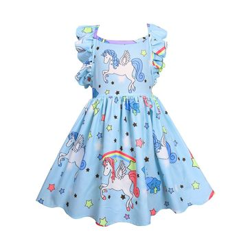 3-10Y Baby Girl Print Party Dress