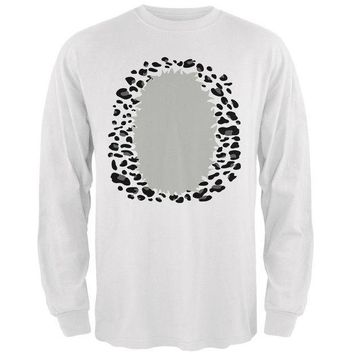 CREYCY8 Halloween Snow Leopard Costume Mens Long Sleeve T Shirt