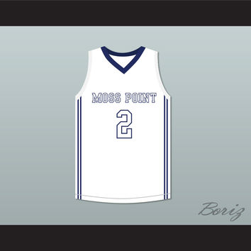 Devin Booker 2 Moss Point High School Tigers White Basketball Jersey 2