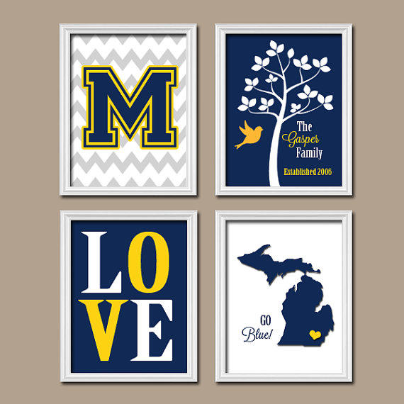 Home Decor Stores Michigan: University Of Michigan Wolverine Blue From TRM Design