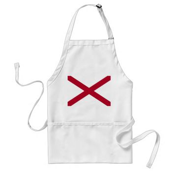 Apron with Flag of Alabama, U.S.A.