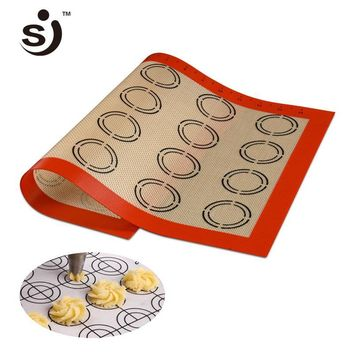 SILIKOLOVE 42*29.5 cm Baking Mat Non-Stick Silicone Pad Sheet Bakeware pastry Tools Rolling Dough Mat for Cake Cookie Macaron