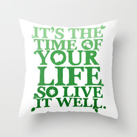 flick's theme song Throw Pillow by studiomarshallarts
