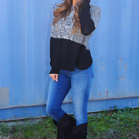 If You Ever Saw It Sweater: Gray/Black