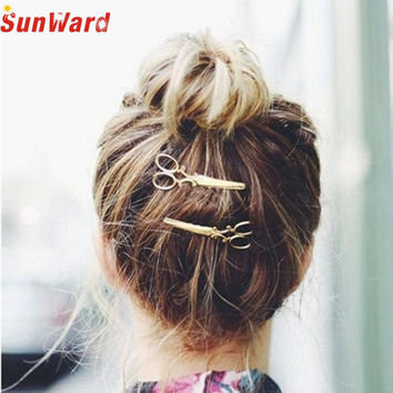 JU 16 Fairy Store 2016 Hot Selling  1PC Women Hairpin Scissors Pattern Hair Clip Hair Barrettes Apparel Accessories Headpiece