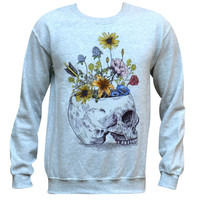 Skull With Flowers Sweater