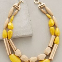Grassland Melange Necklace by Anthropologie in Yellow Size: One Size Necklaces