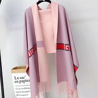 Perfect Gucci  Women Wool Scarf Shawl Silk Scar