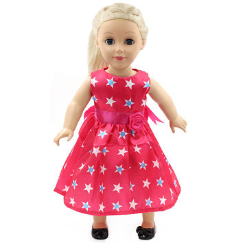 Doll Clothes - Beautiful Flower Dress Outfit Fits American Girl Doll My Life Doll Our