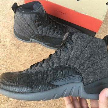 AIR JORDAN 12 (PREMIUM WOOL) Basketball Sneaker 852627-003 24d318600
