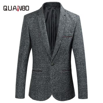 2017 new men's suit fall Fashion design casual suits Brand high-quality cotton Slim men's suit Men 's clothing business