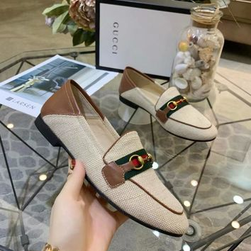 Kuyou Gx1 Gucci Horsebit Loafer With Web Casual Shoes For Women