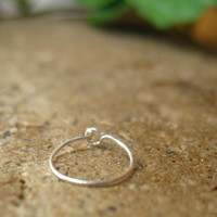 Xtreme Thin Solid Silver Nose Ring