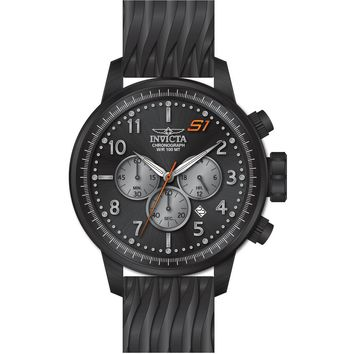 Invicta Men's 23814 S1 Rally Quartz Chronograph Black, Grey Dial Watch