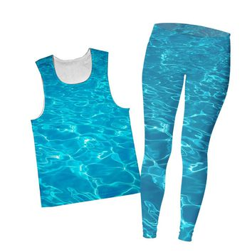 Water Combo Tank Top and Leggings